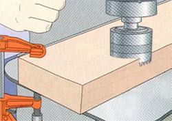 avoid burning wood with a hole saw
