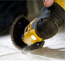 oscillation scraping grouting heads