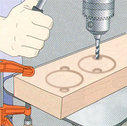 clearance holes for hole saw