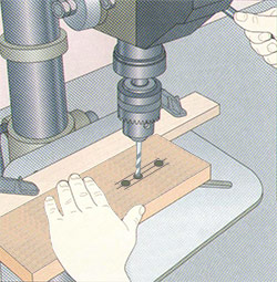 properly drill dovetails or mortise and tenon joints